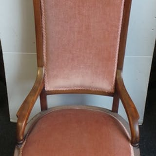 Mahogany Upholstered Occasional Chair