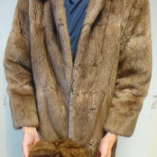 Fur Coat and Hat - Lighter Brown