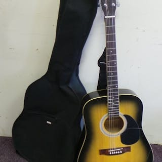 Country Man Guitar with Case