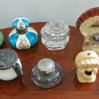 Assorted Collection of inkwells