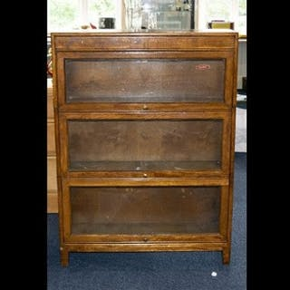 Gunn Nottingham Oak Sectional Barristers Bookcase, 1950's of...