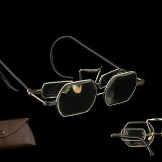 Antique Magnifying Spectacles Steel framed double lens spect...