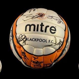 Blackpool Football Club Interest Signed Mitre Football 2008-...