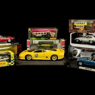A Collection of Boxed Model Cars (9) in total. Comprises Sol...