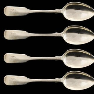 Scottish Mid Victorian Period Set of Six Sterling Silver Tea...