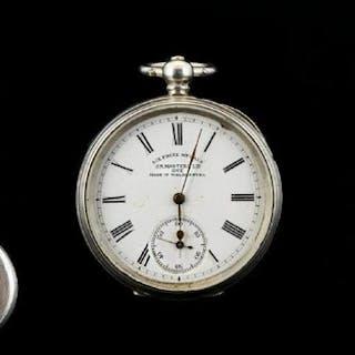 German - Silver Key-wind Open Faced Pocket Watch, Winner of ...