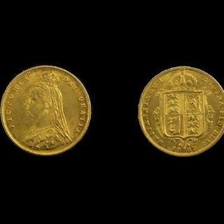 Queen Victoria 22ct Gold Jubilee Head Half Sovereign - Date ...