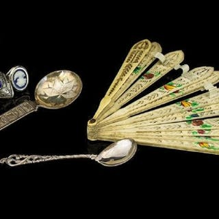 A Small Mixed Lot comprising three white metal paste set rin...