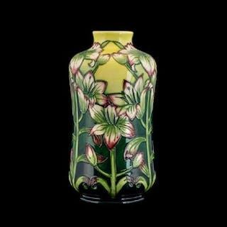 Moorcroft - Impressive Tubelined Trial Vase ' Lilies ' Desig...