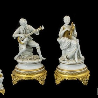 Capodimonte Carpie Nove(VI) Sele Arte A Pair Of Figurines Ea...