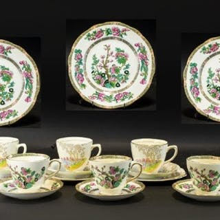 A Collection of Bone China to include 'Rosina' four cups, sa...