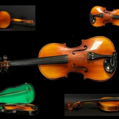 Chinese Made Violin Bow and Case paper label reads 'Made in ...