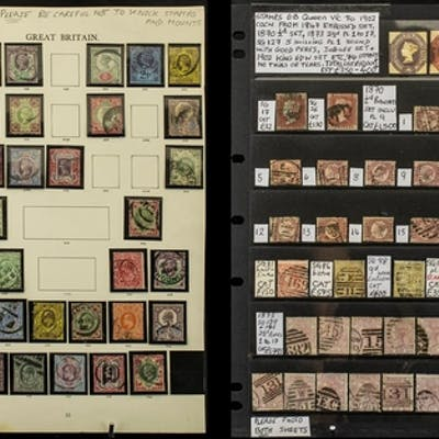 Stamps Interest GB - Queen Vic to 1902 collection from 1847 ...