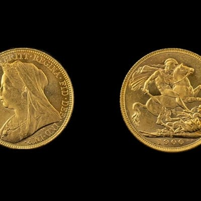 Queen Victoria 22ct Gold - Old Head Full Sovereign - Date 18...