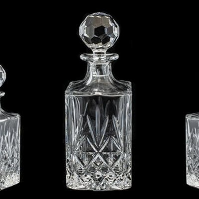 Thomas Webb Finest Crystal 'Angelo' Square Glass Decanter, i...