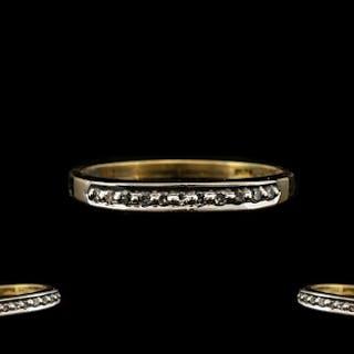 18ct Gold Half Eternity Ring set with round cut diamonds. St...