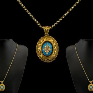 Antique Period Superb Quality Ornate 18ct Gold Oval Shaped L...