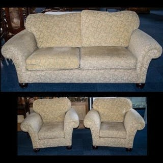 Three Piece Suite comprising a three-seater sofa and two arm...