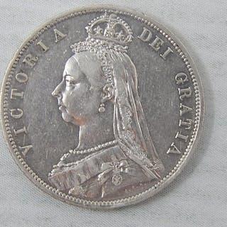 Victoria Jubilee Head Silver Halfcrown 1887, much underlying...
