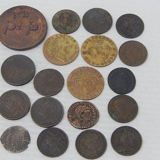 Elizabeth I 1572 Hammered Silver Threepence; Hadrian Roman c...