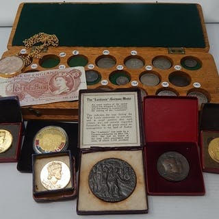 Various Coins: Commemorative Medallions etc together with a ...