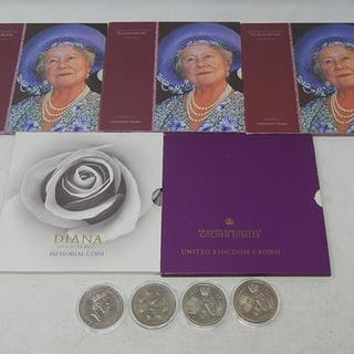 Collection of 9 x Five Pound Commemorative Coins (5 in blist...