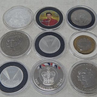 Cook Islands 2004 Proof Silver $1; Guernsey £5 1999; Jersey ...