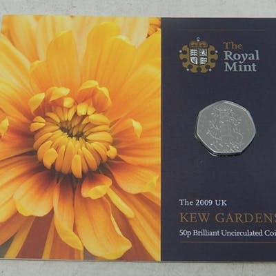 2009 Kew Gardens 50 Pence in original Royal Mint blister pac...