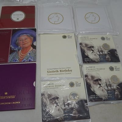 Charles Darwin £2 Commemorative Coins in blister packs (3); ...