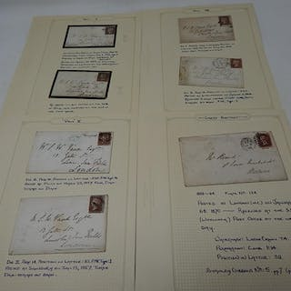 An important collection of Seven Victorian Postal History co...