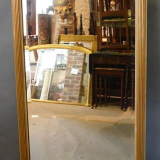 A 20th Century Giltwood Overmantel Mirror of rectangular for...