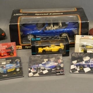 Various Minichamps Model Racing Cars and related items