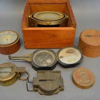 A US Pocket Compass, together with various other similar, to...