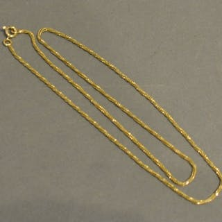 An 18 Carat Gold Rope Twist Necklace, 6.1 grammes