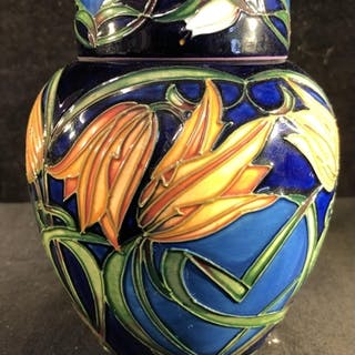 Philip Gibson for Moorcroft Pottery - A Loch Hope pattern gi...