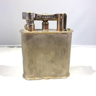 Dunhill - A Giant table cigarette lighter, silver plated eng...