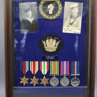 A WW2 medal group to N. King ABST D/JX 179402 medal group co...