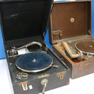 A Maxitone 78rpm record player and one other of unknown make...