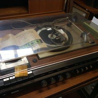 A Pye Ekco ZU4 record player/cassette deck unit