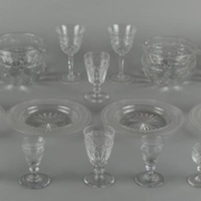 Property of a gentleman - a quantity of assorted glassware i...