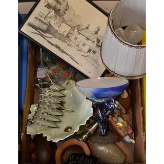 Quality Mixed Box To Include A Variety Of Ceramics Lamp Etc Cur S Barnebys