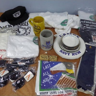 QUANTITY OF BEER PROMOTIONAL ITEMs, as new, viz a large Lamb