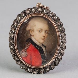 JOHN BOGLE (1746-1803), A GOOD OVAL PORTRAIT MINIATURE ON IV...