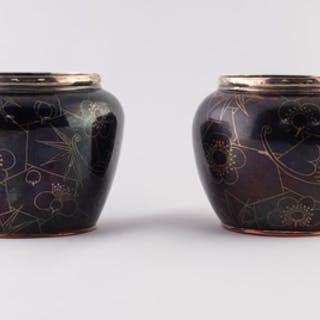 A GOOD QUALITY PAIR OF SMALL JAPANESE MEIJI PERIOD COPPER AL...