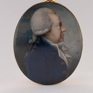 ANDREW PLIMER (1763-1837), A FINE AND INTERESTING OVAL PORTR...
