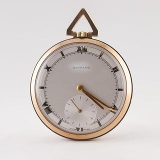 GARRARD, LONDON, GENTLEMAN'S 9ct GOLD DRESS POCKET WATCH, wi...