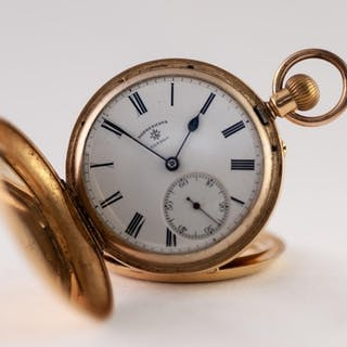 ROTHERHAMS, LONDON, EDWARDIAN 18ct GOLD FULL HUNTER POCKET W...