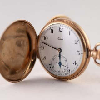 FEDERAL, SWISS 9ct GOLD FULL HUNTER POCKET WATCH, with keyle...