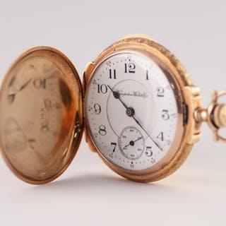 HAMPDEN WATCH CO, CANTON, OHIO, 14K MULTI-COLOUR GOLD FULL H...