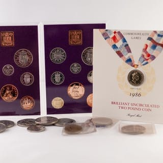 TWO ROYAL MINT PROOF SETS COINAGE OF GREAT BRITAIN AND NORTH...